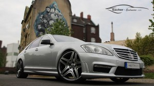 Mercedes W221 AMG body kit photo sesion