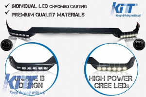 KITT brings you the new Front Bumper Spoiler LED DRL Extension Mercedes W463 G-Class AMG (1989-up)  B-Design