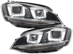 KITT brings you the new Headlights 3D LED DRL LED Turning Lights Volkswagen Golf 7 VII (2012-up) R-look  Black