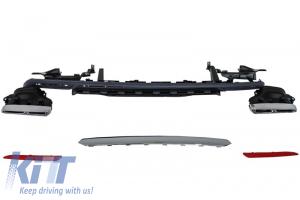 KITT brings you the new Rear Bumper Diffuser & Exhaust Muffler Tips Mercedes S-class W222 (2013-up) S63 S65