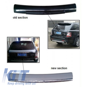 KITT brings you the new Range Rover Sport L320 (05-09) 2012 Facelift Style Rear Trunk Tailgate Conversion Kit Silver Titanium Autobiography Look