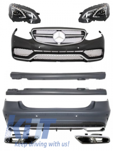 KITT brings you the new Complete Body Kit + Exhaust Tips + LED Xenon Headlights Mercedes Benz W212 E-Class Facelift (2013-up) E63 AMG Design