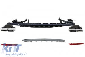 KITT brings you the new Rear Bumper Diffuser & Exhaust Muffler Tips Mercedes S-class W222 (2013-up) S63