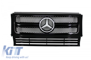 KITT brings you the new Front Grille Mercedes W463 G-Class (1990-2012) New G65 AMG Look Piano Full Black Edition
