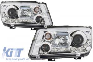 KITT brings you the new Dayline LED Headlights Volkswagen Bora Sedan/Variant (1998-2005) Chrome