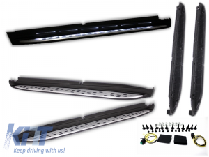 KITT brings you the new Running boards Mercedes Benz X166 (2012-up) Side steps with Courtesy Light