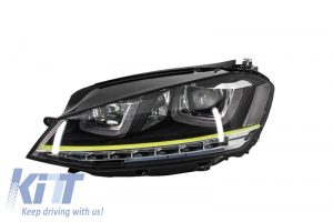 KITT brings you the new Headlights 3D LED DRL Volkswagen Golf 7 VII (2012-up) Yellow R400 Look LED Turn Light  for RHD