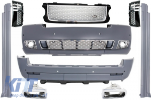 KITT brings you the new Autobiography Design Body Kit Range Rover Vogue (L322) (2002-2012) Black/Silver Grille Edition