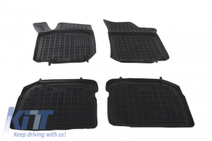 KITT brings you the new Black rubber mats Auto Press SEAT Leon (99-05) TOLEDO 99-04 SKODA Octavia 97-2010. Volkswagen Beetle, Bora 98-05 Golv IV 97-06