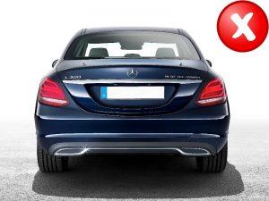 KITT brings you the new Muffler Tips Mercedes Mercedes Benz C-Class W205 C-Class S65 E65 GLE W166 X166 GLC W253 AMG Design