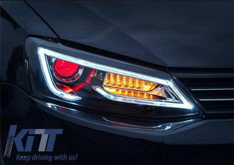 KITT brings you the new Headlights LED DRL VW Jetta Mk6 VI Non GLI (2011-2014) Dual Beam Lens ...