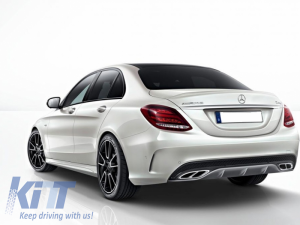 KITT brings you the new Exhaust Muffler Tips Mercedes GLC 45 X253/C253 GLE SUV W166 Coupe C292 450 C-Class W205 C43 AMG Sport Design