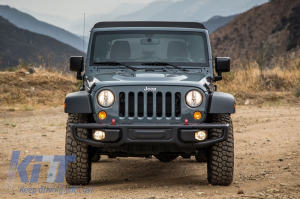 KITT brings you the new Front Bumper Jeep Wrangler / Rubicon JK (2007-2017) 10th Anniversary Hard Rock Style