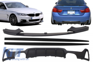 KITT brings you the new Add On Kit Extension Conversion Package to M Performance Design BMW F32 F33 F36 4 Series (2013-) Coupe Cabrio
