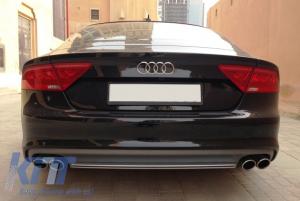 KITT brings you the new Audi A7 4G (2010-2014) Rear Bumper Valance Diffuser & Exhaust Tips S7 Facelift Design