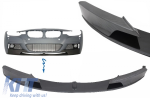 KITT brings you the new Front Bumper Spoiler Splitter BMW 3 Series F30/F31 (2011-) M-Performance Carbon Film Coating
