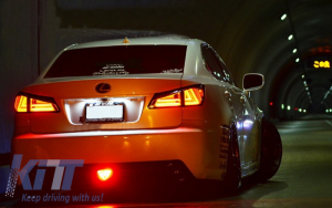 KITT brings you the new Taillights Full LED LEXUS IS XE20 (2006-2012) Light Bar Facelift New XE30 Red Clear