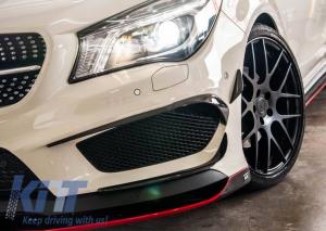 KITT brings you the new Front Bumper Splitters Fins Aero Mercedes Benz W117 CLA (2013-Up) CLA45 AMG Design