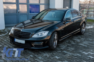 KITT brings you the new Body Kit Mercedes Benz W221 S-Class 2005-2011 S63 S65 AMG Look with Exhaust Muffler Tips Black Edition SWB
