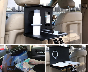 KITT brings you the new Universal Auto Headrest Desk Laptop Folding Tray Table Worktop Cup Stand Car Back Seat