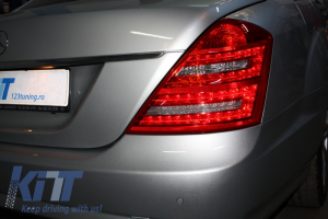 KITT brings you the new LED Taillights Mercedes Benz S-Class W221 (2005-2009) Limousine Red Cristal Facelift Look