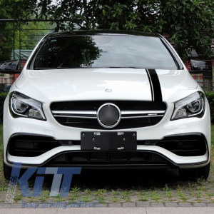 KITT brings you the new Set Sticker Matte Black Upper Bonnet Roof & Tailgate Mercedes Benz CLA W117 C117 X117 (2013-2016) A Class W176 (2012-up) 45 AMG Design Edition 1