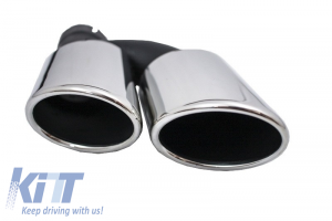 KITT brings you the new Rear Bumper Valance Diffuser Exhaust Muffler Tips A6 4G 2012-2015 S6 Design