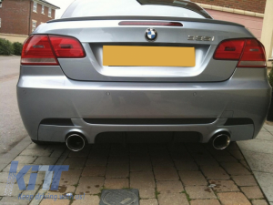 KITT brings you the new Rear Bumper Diffuser BMW E92 Coupe 3 Series (2006-2013) M Performance Design Twin Single Outlet
