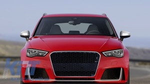 KITT brings you the new Front Bumper Audi A3 8V (2012-2015) Sedan/ Saloon / Convertible RS3 Brilliant Black Design