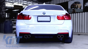 KITT brings you the new BMW F30 F31 (2011-2018) 3 Series Twin Double Exhaust Muffler Tips M3 M Sport Design