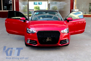 KITT brings you the new Badgeless Front Grille Audi A1 (2015+) RS Design Piano Black
