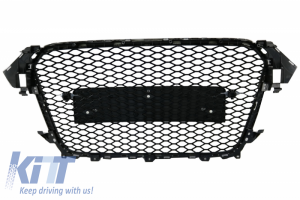 KITT brings you the new Badgeless Front Grille Audi A4 B8 Facelift (2012-2015) RS Design Honeycomb Piano Black Grille With PDC Covers