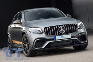 KITT brings you the new Front Central Grille Mercedes GLC X253/C253 (2015-2018) AMG GT R Panamericana Look Without 360 Camera