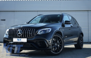 KITT brings you the new Front Central Grille Mercedes GLC X253/C253 (2015-2018) AMG GT R Panamericana Look With 360 Camera