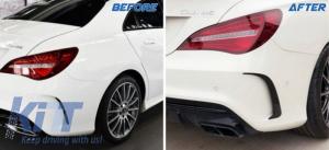 KITT brings you the new Rear Bumper Splitters Fins Mercedes Benz CLA W117 C117 X117 (2013-2016) CLA45 AMG Design