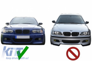 KITT brings you the new Fog Lights Air Duct Covers BMW E46 (1998-2005) M3 H-Design Carbon Film