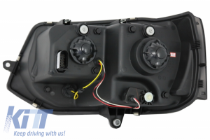 KITT brings you the new U Tube LED DRL Headlights VW Transporter T5 Multivan Facelift (2010-2015) Xenon Look