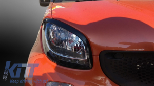 KITT brings you the new Headlights Covers Eyebrows Trim Smart ForTwo C453 A453 (2014-Up)