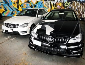 KITT brings you the new Front Grille Mercedes Benz C-Class C63 AMG Design W204 S204 Limousine Station Wagon (2007-2014) AMG GT-R Panamericana Design Black