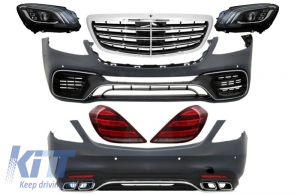 KITT brings you the new Full Convesion Body Kit suitable for MERCEDES S-Class W222 Facelift (2013-Up) S63 AMG Design with LED Sequential Dynamic Turning Lights
