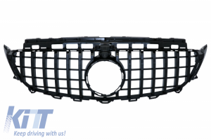 KITT brings you the new Central Grille suitable for Mercedes E-Class W213 S213 C238 (2016-Up) AMG GT-R Panamericana Design Black With 360 Camera