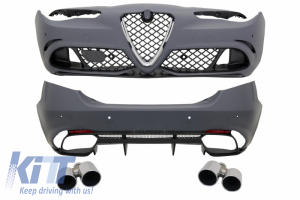 KITT brings you the new Body kit suitable for Alfa Romeo Giulia (952) Q4 (2016-Up) Quadrifoglio Racing Design