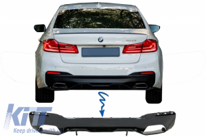 KITT brings you the new Rear Bumper Diffuser suitable for BMW 5 Series G30 G31 Limousine/Touring (2017-up) M Performance Design Piano Black