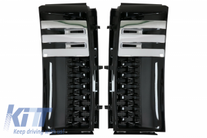 KITT brings you the new Side Vents Grilles Suitable for Range Rover Vogue Autobiography (2002-2012) Piano Black Edition