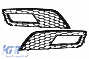 KITT brings you the new Fog Lamp Covers suitable for AUDI A4 B8 facelift (2012-up) Black RS4 Design