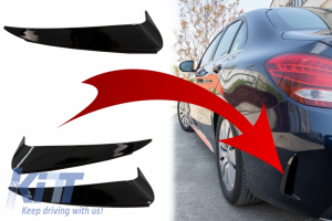 KITT brings you the new Rear Bumper Flaps Side Fins suitable for MERCEDES C Class W205 (2014-2018) AMG Design Piano Black