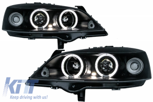 KITT brings you the new Headlights suitable for OPEL ASTRA G 09.97-02.04 ANGEL EYES BLACK