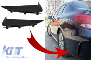 KITT brings you the new Rear Bumper Flaps Side Fins Flics suitable for MERCEDES C-Class W205 S205 (2014-2018) Piano Black