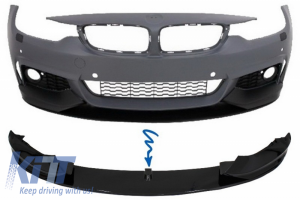 KITT brings you the new Front Bumper Spoiler Lip suitable for BMW 4 Series F32 F33 F36 Coupe Cabrio Grand Coupe M-Performance Piano Black