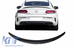 KITT brings you the new Trunk Boot Spoiler suitable for Mercedes C-Class Coupe C205 (2014-2019) Piano Black A-Design